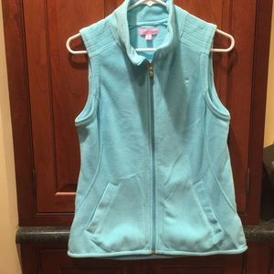 Lilly  Pulitzer light blue/turquoise fleece vest